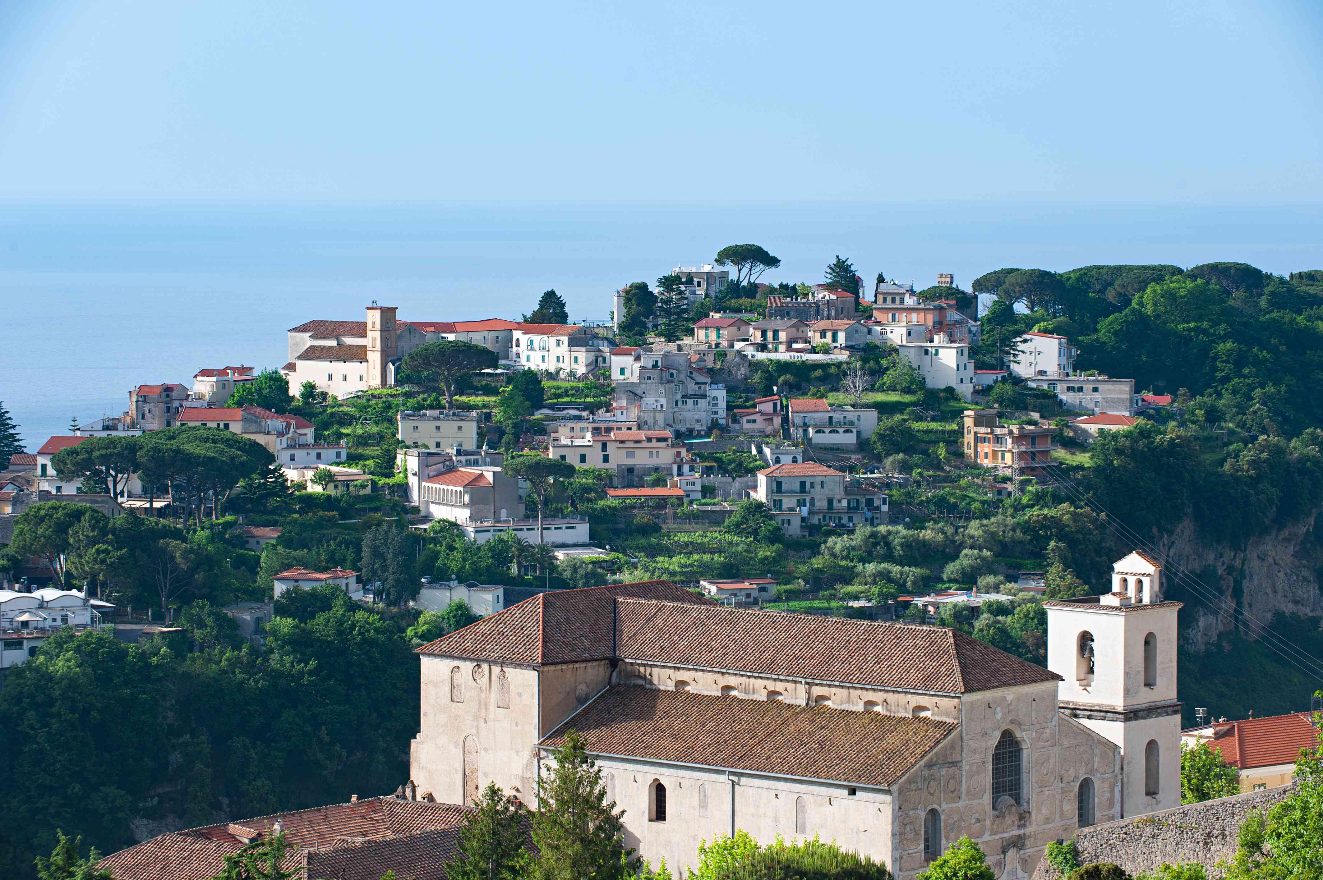 Vista de Ravello desde el pueblo de Scala