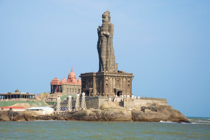 Thiruvalluvar Statue at Kanyakumari.