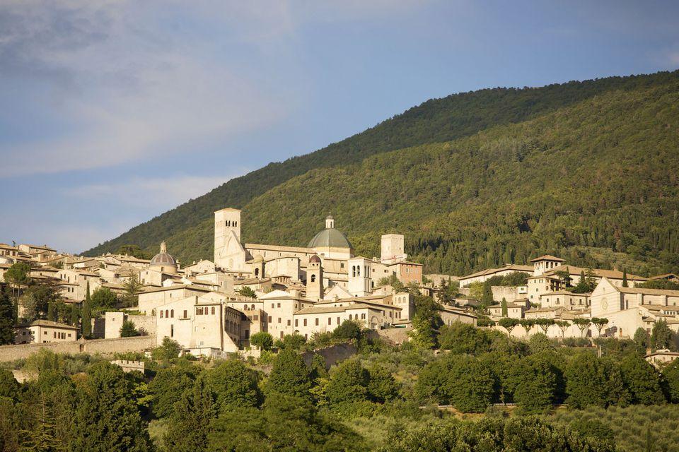 Assisi at sunset