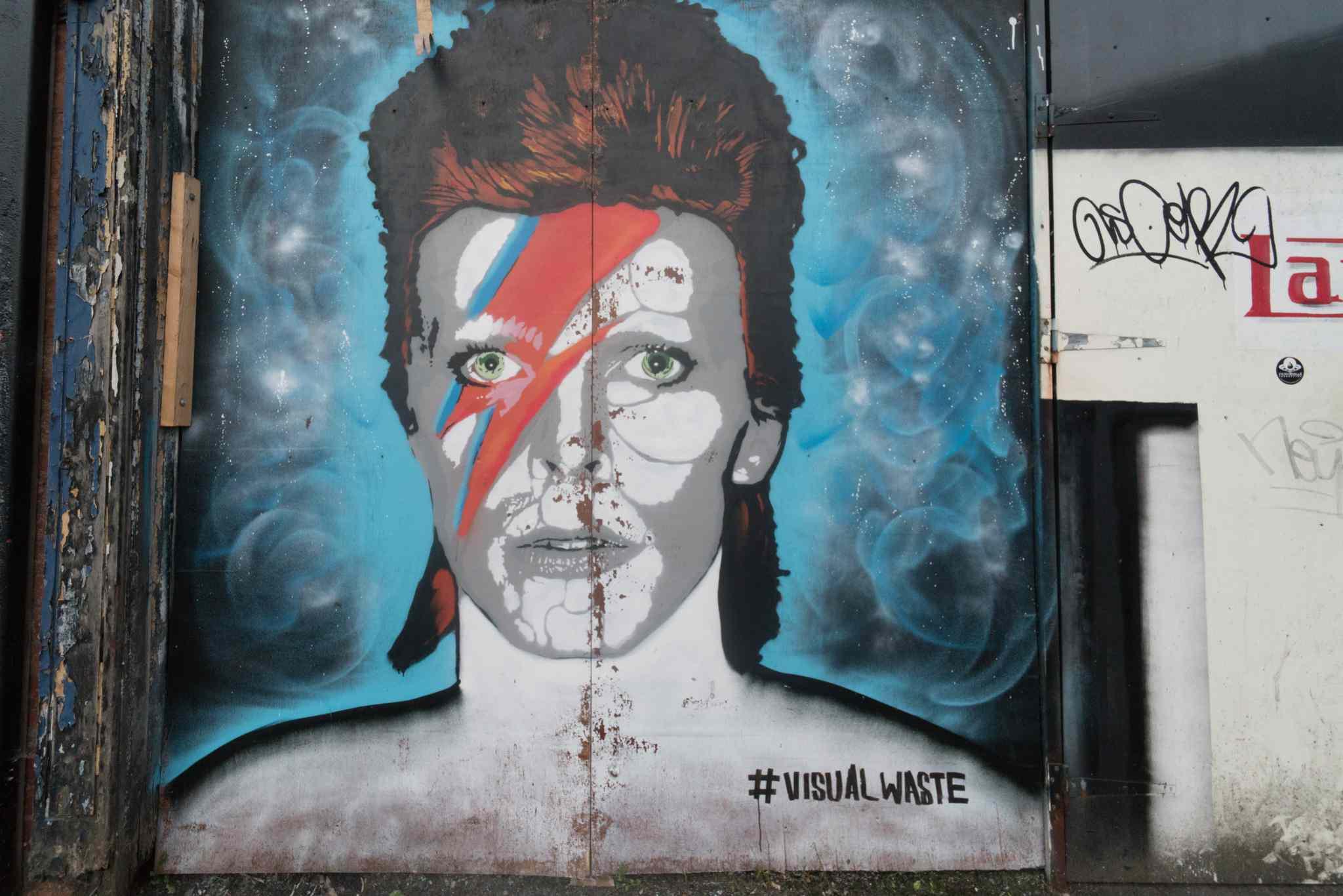 David Bowie mural in Belfast