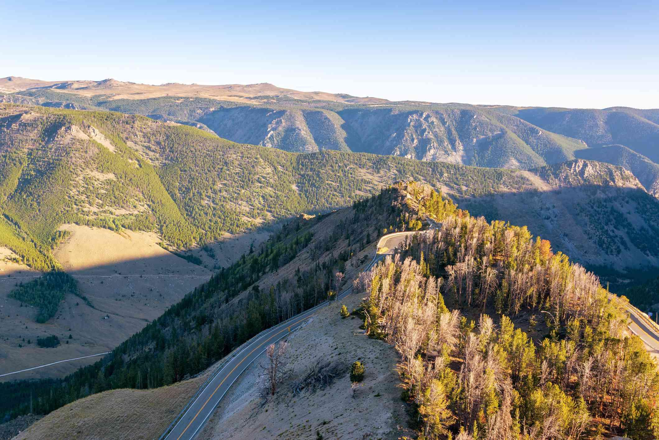 Vista de las montañas Beartooth en Montana