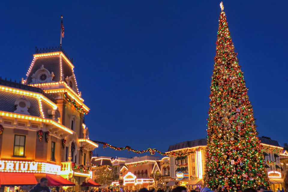 Christmas Tree at Disneyland, Main Street U.S.A.