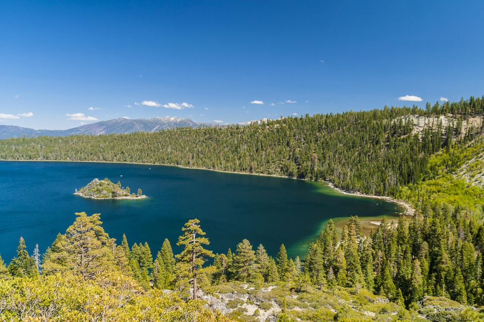 Fannette Island in Emerald Bay, Lake Tahoe, USA