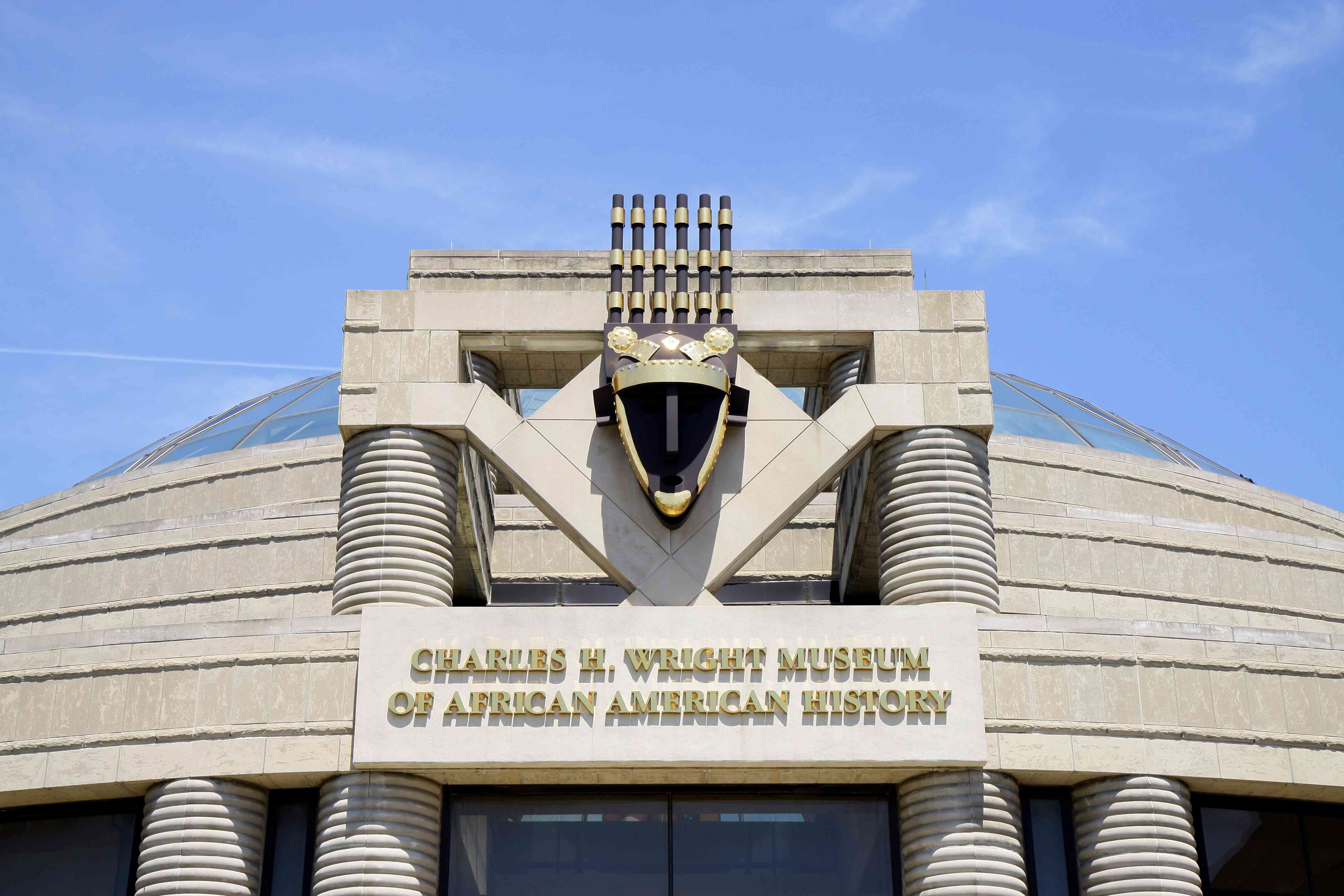 entrance to Charles H. Wright Museum of African-American History