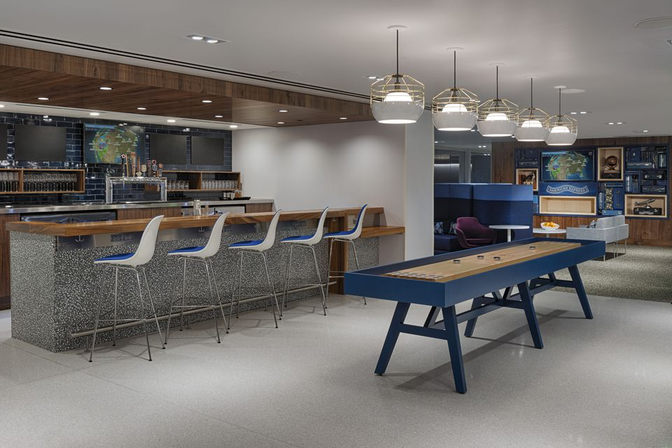 Centurion Lounge offering games, craft beer, and a live cooking station