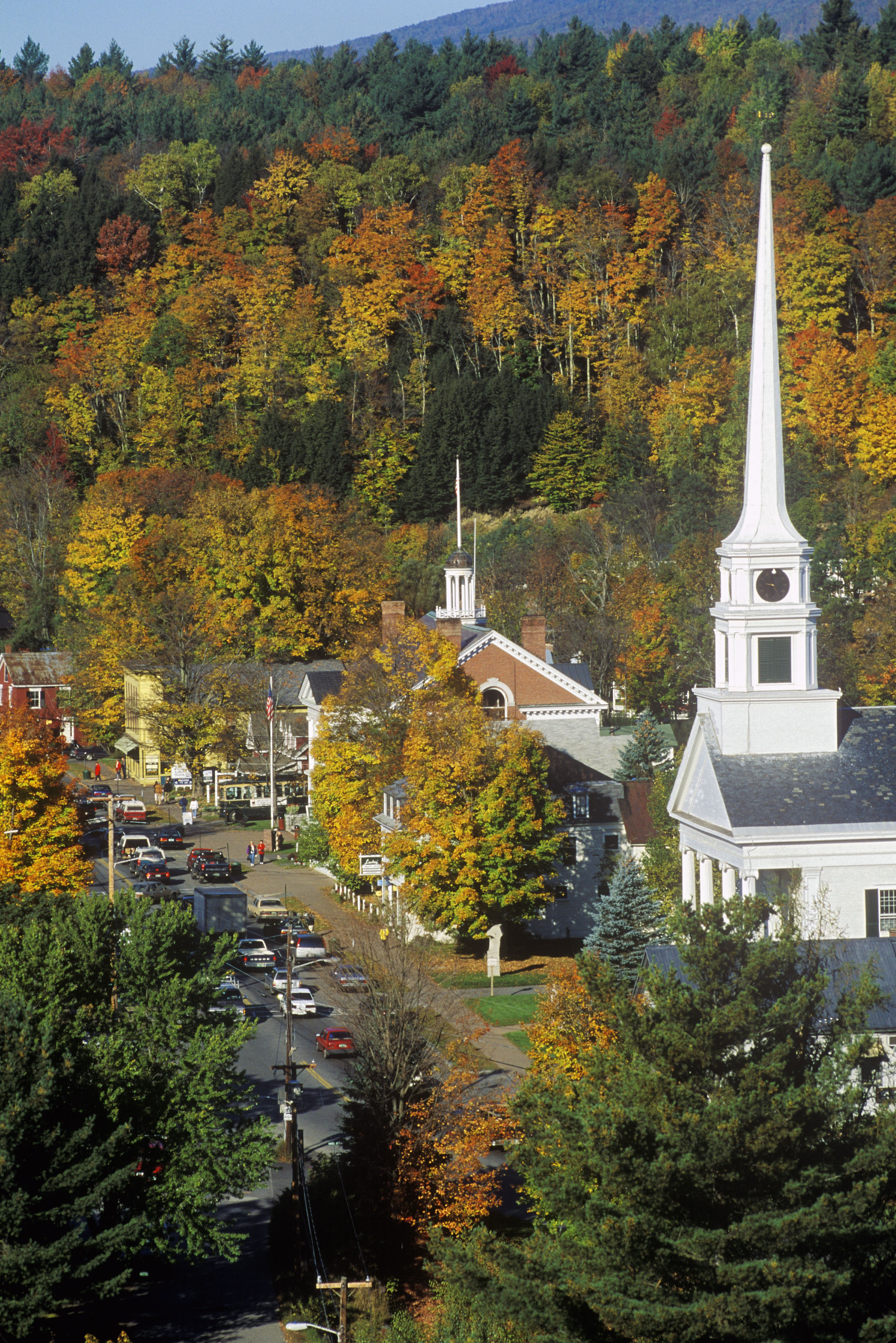 Scenic Route 100 in Stowe Vermont