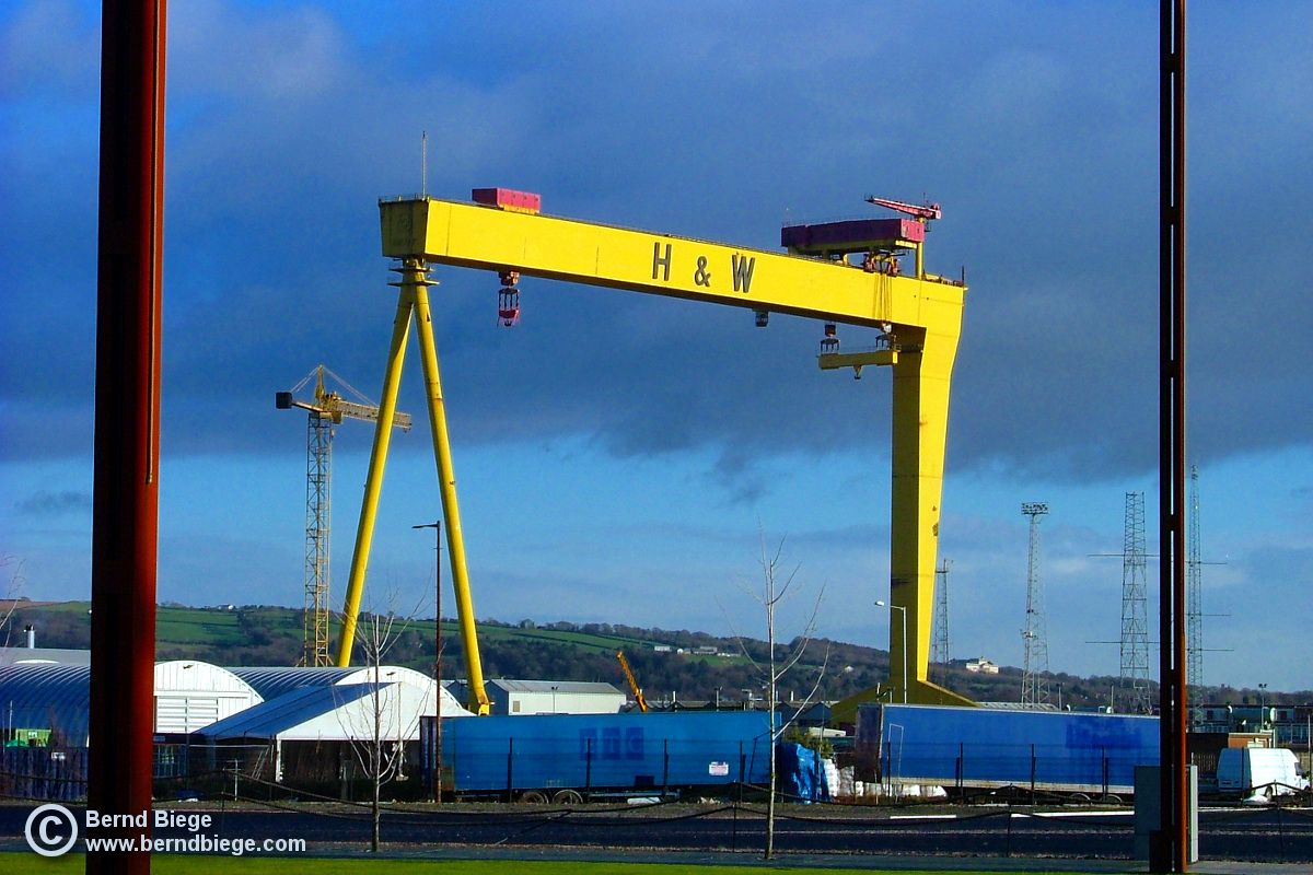 Samson, or maybe Goliath, towering over East Belfast.