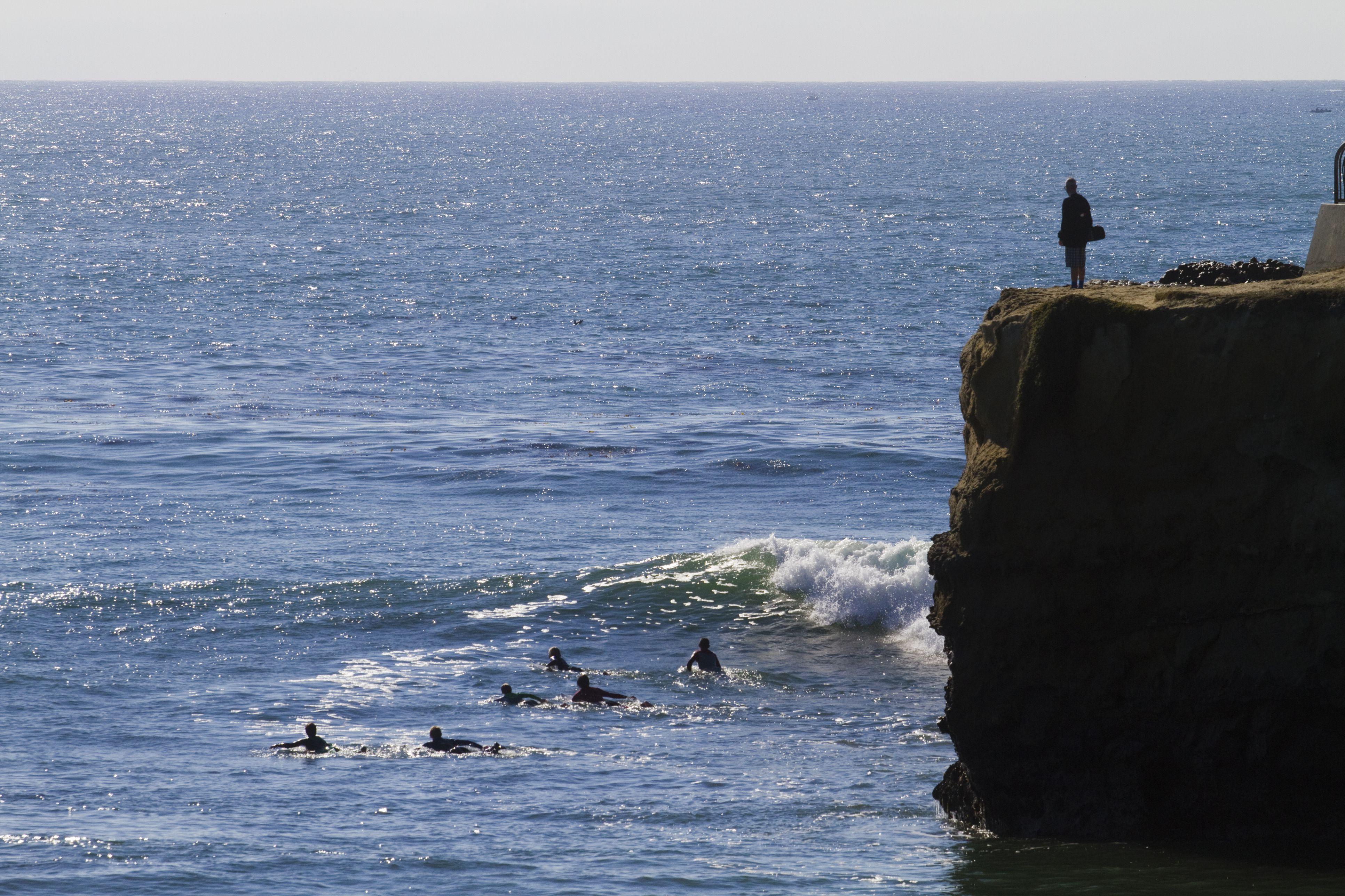Steamer Lane Surfers, Santa Cruz