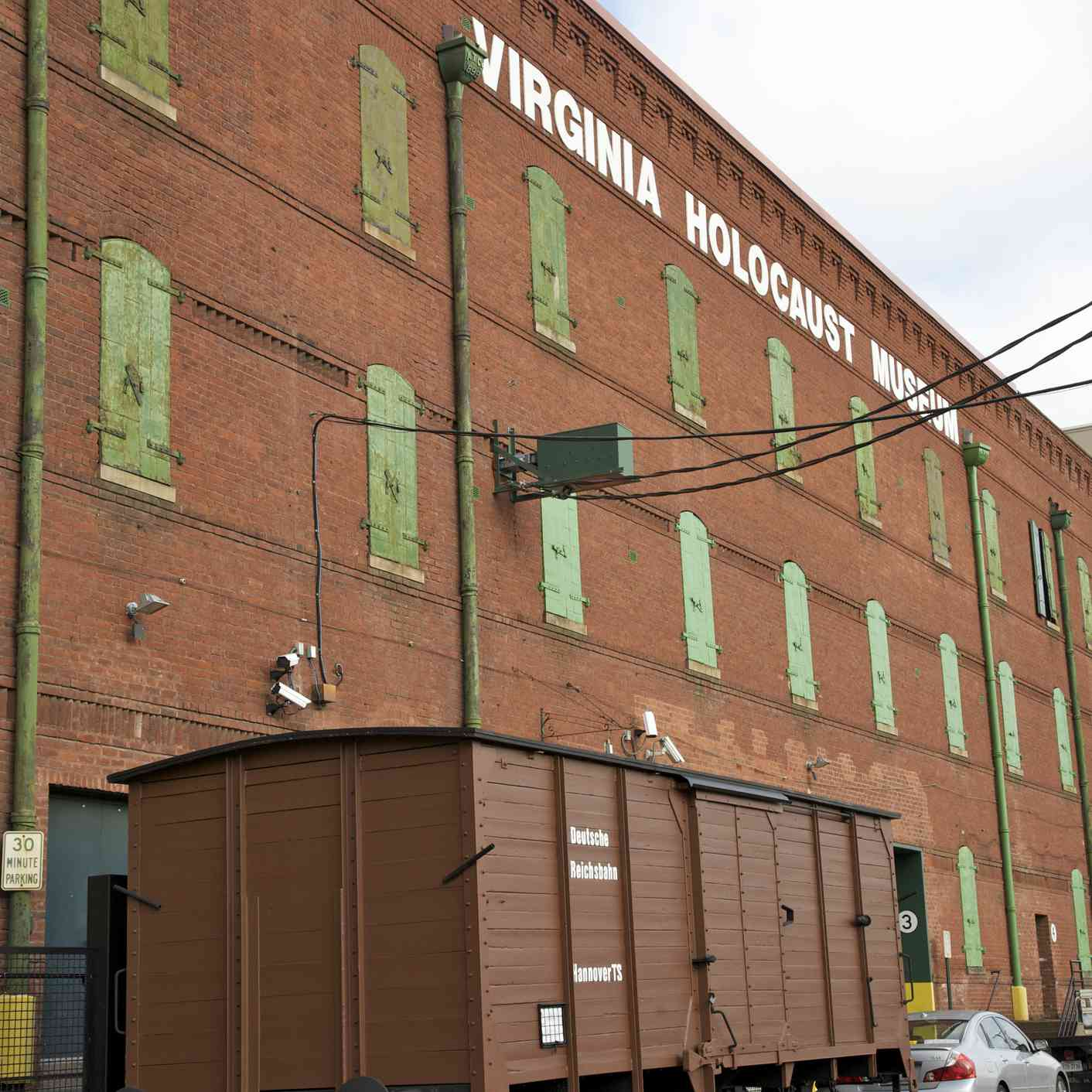 old brick warehouse with