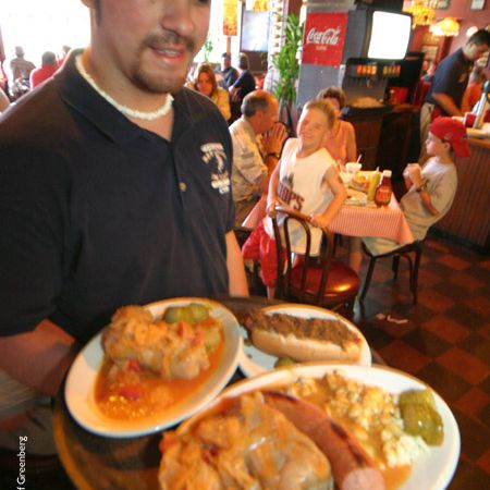 The food at Tony Packo's Cafe in Toledo Ohio