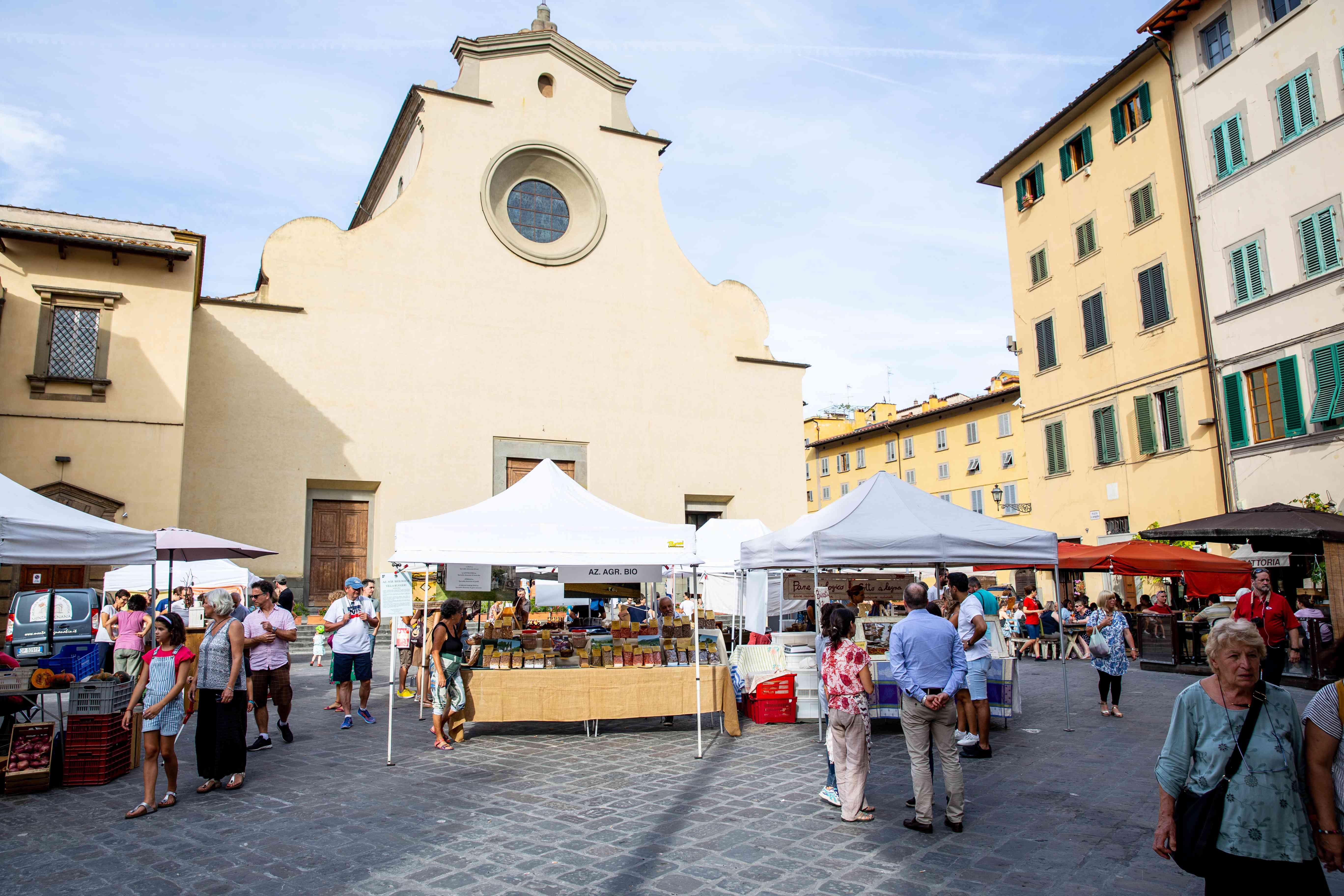 Piazza Santo Spirito in Florence, Italy