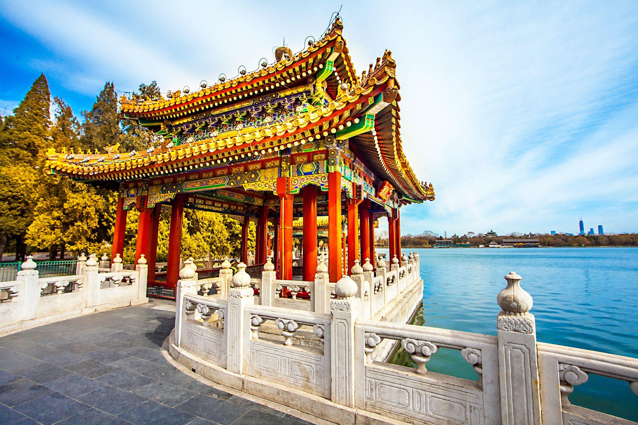 Beihai Park in Beijing China