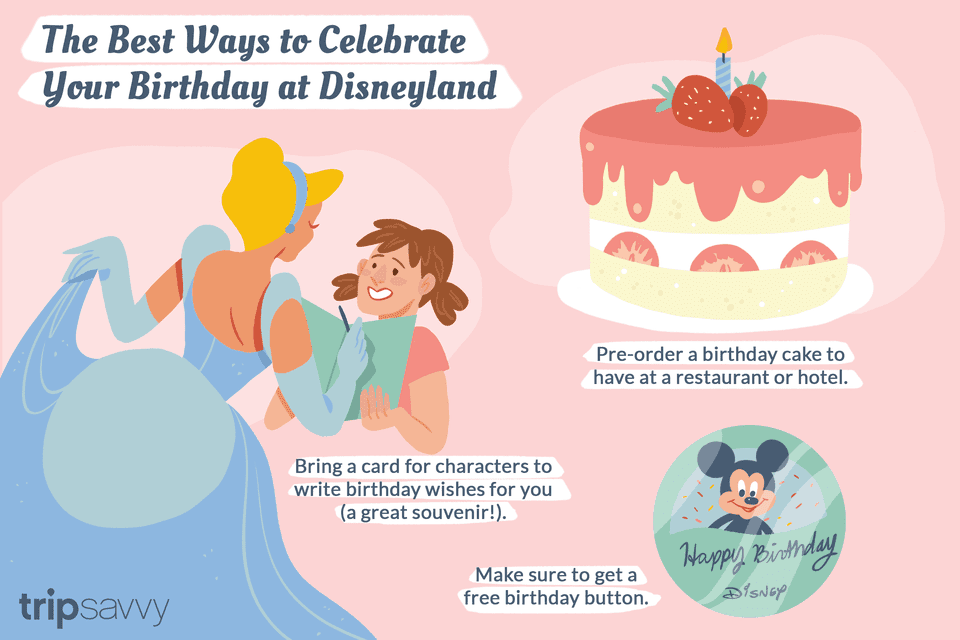an illustration of birthdays at Disneyland