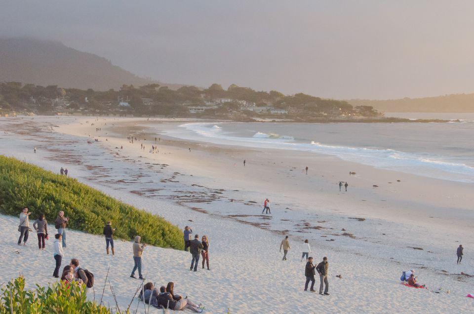 Sunset On Carmel Beach By The Sea California