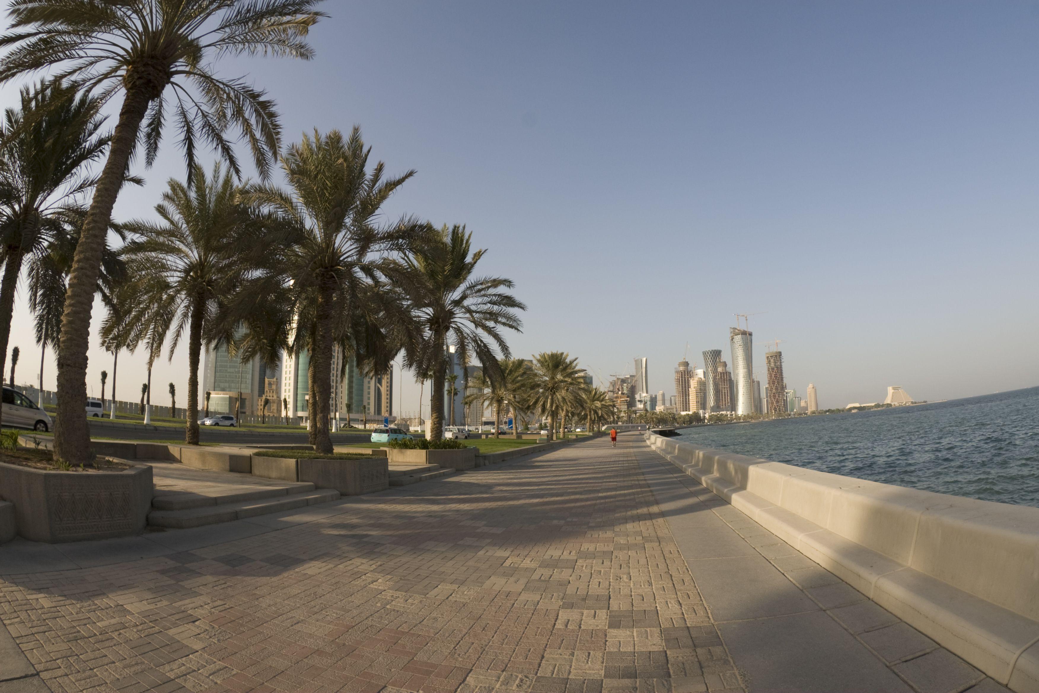 Doha Corniche (fisheye)