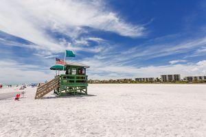 Siesta beach in Sarasota, Florida