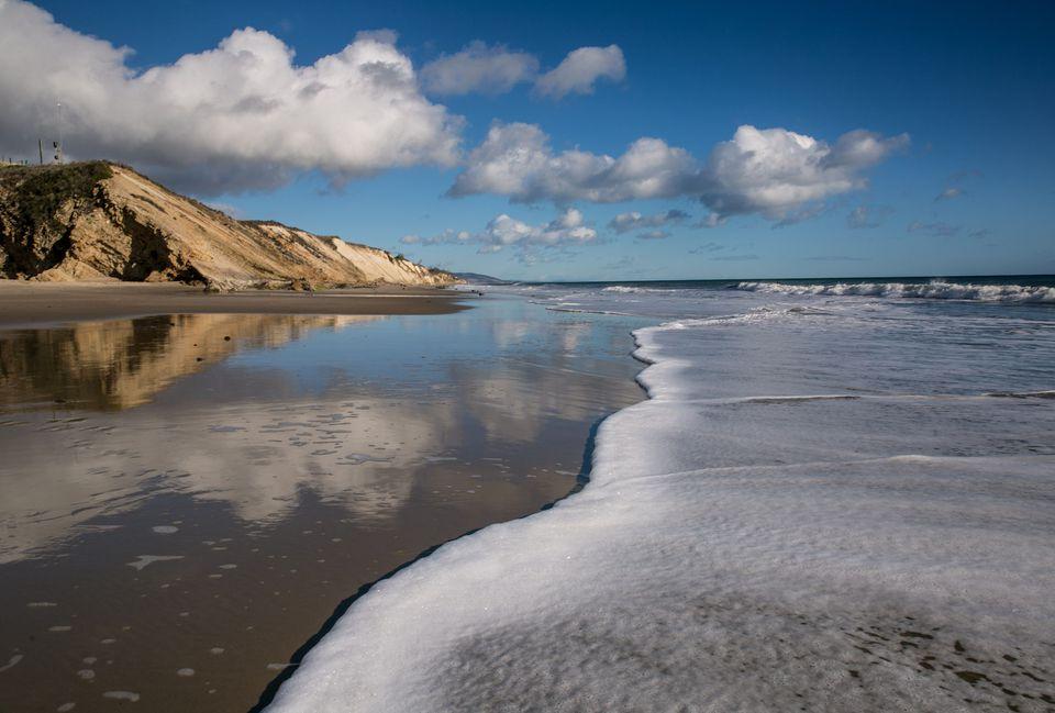 Una playa de California