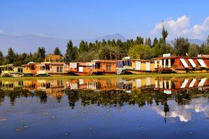 Houseboats on Nigeen Lake, Srinagar.