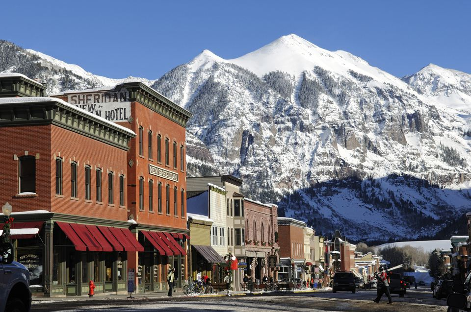 Telluride in winter