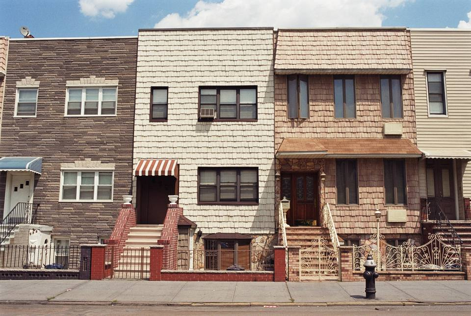 Row of houses, Greenpoint, Brooklyn, New York