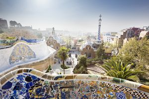Park Güell, a great place to walk around in Barcelona