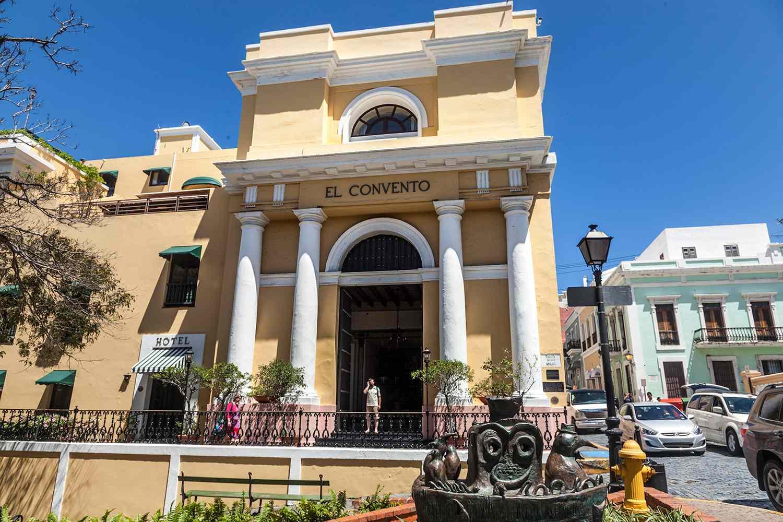 View of the main entrance of Hotel El Convento
