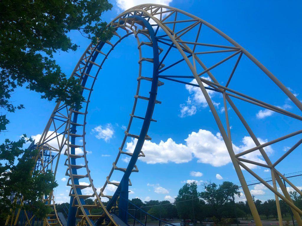 Diamondback roller coaster at Frontier City