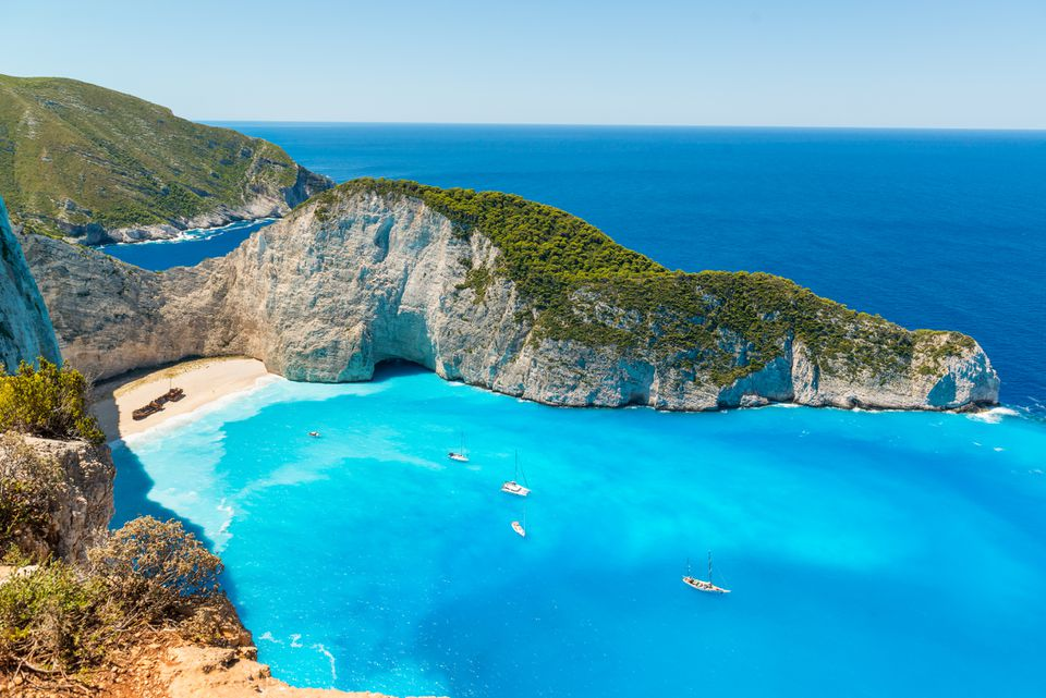 Playa Navagio en Zakynthos Grecia