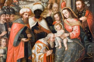 Adoration of the Magi by an anonymous Cusco School artist