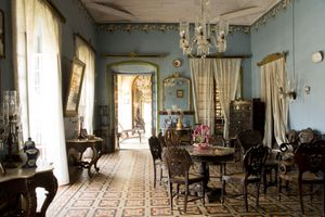 Sitting room in Fernandes wing of Braganza House.