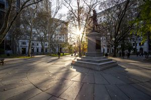 Scenic view of a statue in Philadelphia, PA