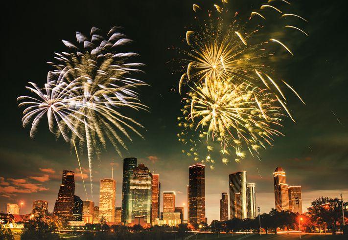 Fireworks over Houston