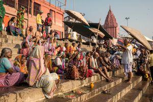 Pilgrims at Varanasi.