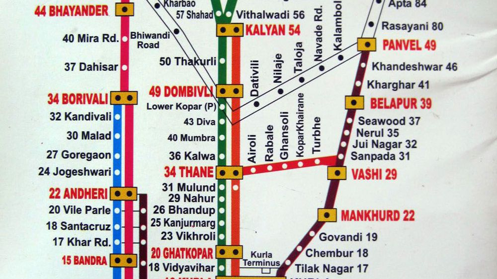 Local Train Map Printable Mumbai Local Train Map for Tourists