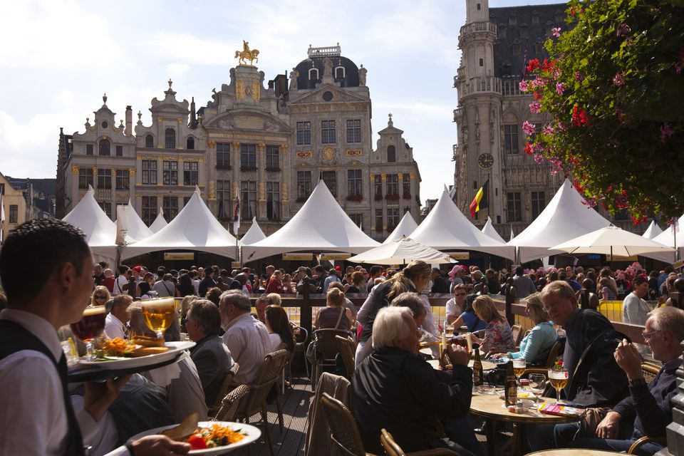 Beer festival in Brussels, Belgium