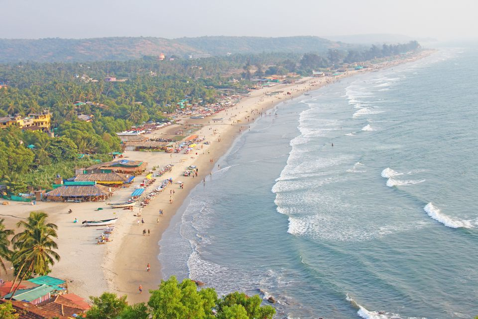 Goa coastline and Arambol beach.