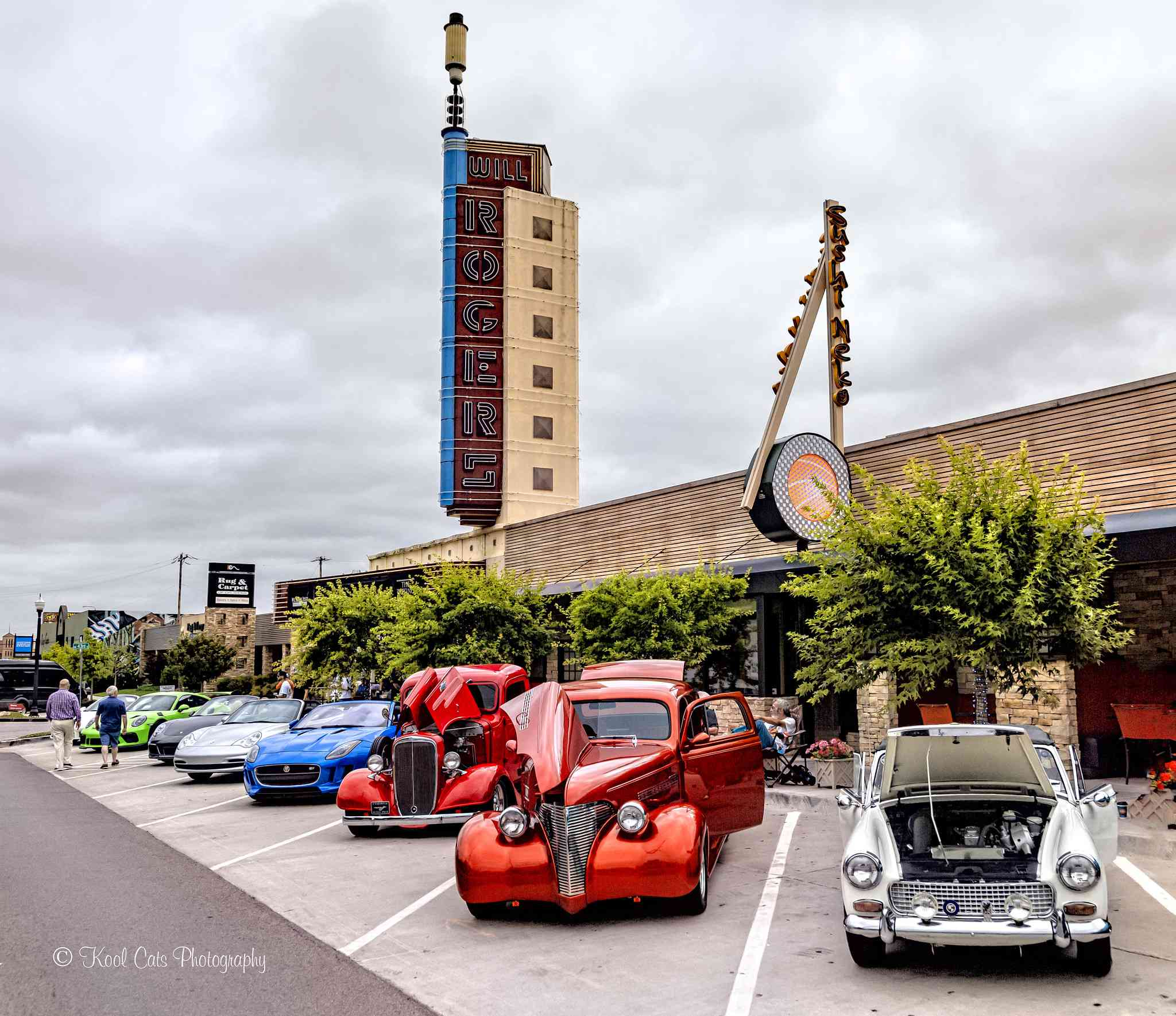 Classic car show on Western Ave