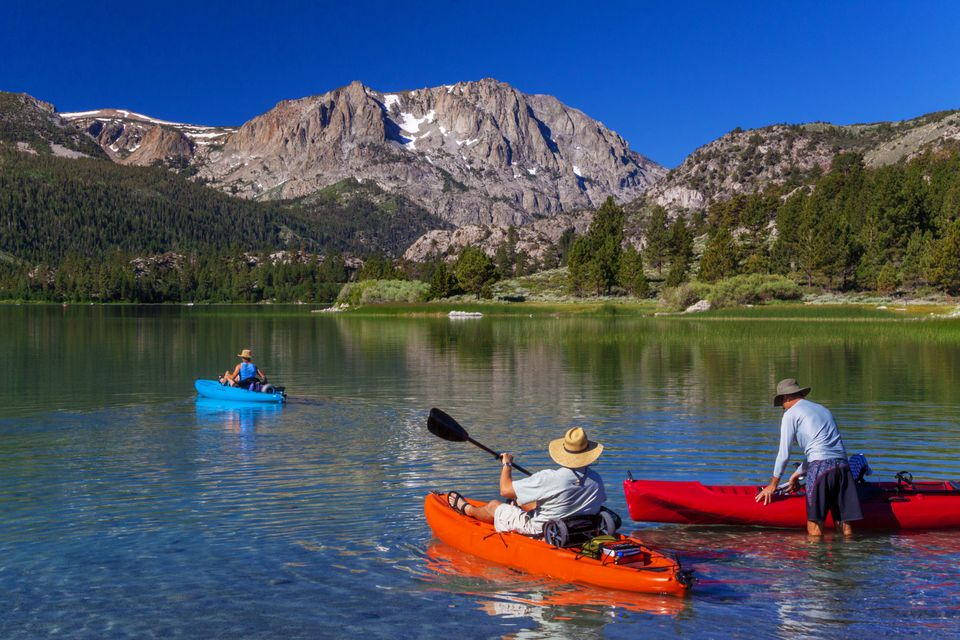 Kayaking on June Lake, California