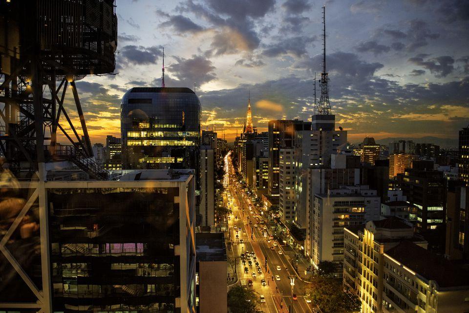 Evening on Paulista Avenue, São Paulo