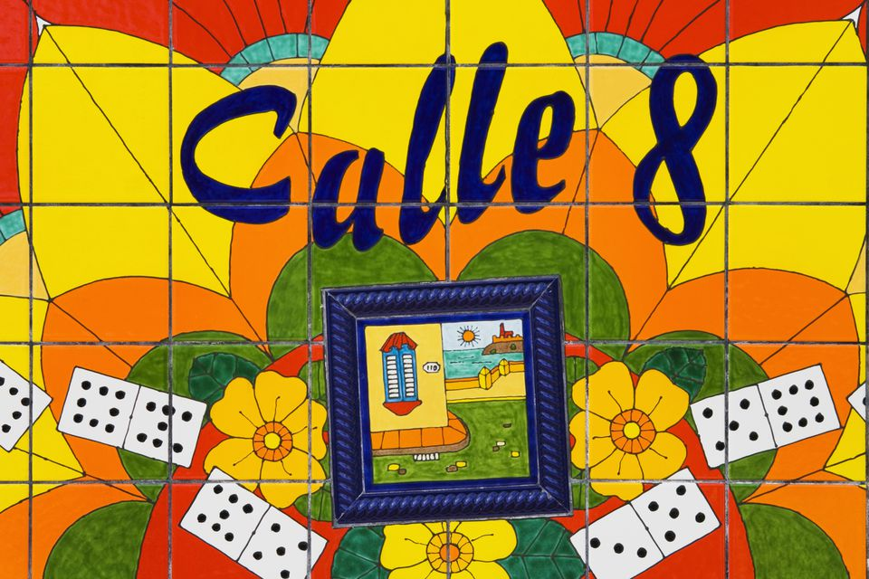 Calle Ocho (Eighth Street) Mosaic, Cuban District, Miami, Florida, USA