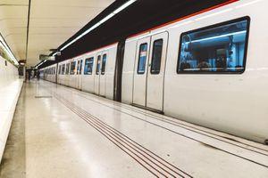 Metro station in Barcelona