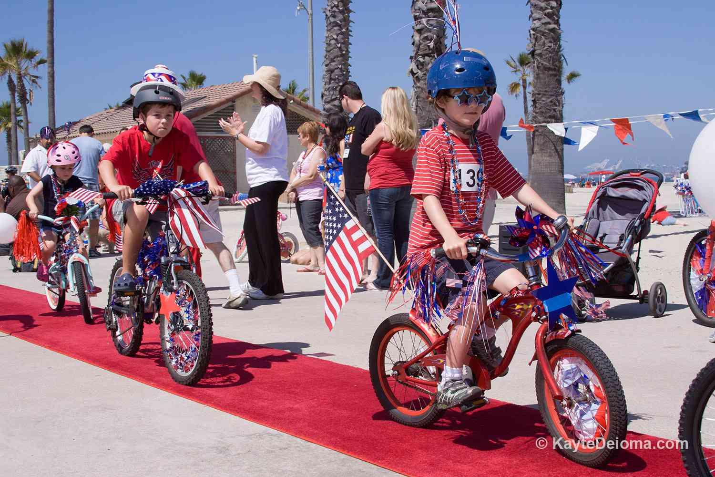 Long Beach 4th of July Bike Parade