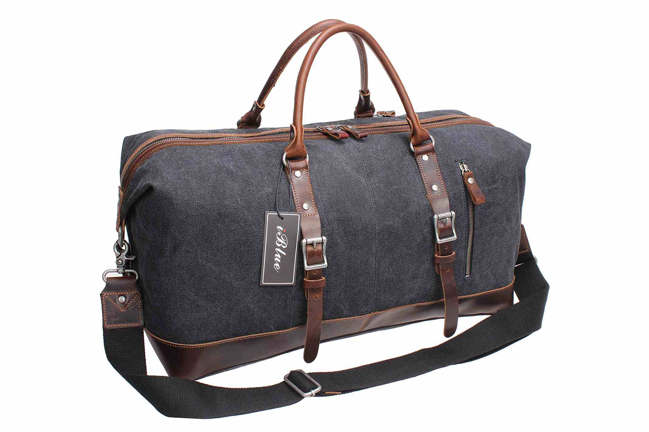 2b85f74f17b Best Canvas Bag  IBlue Overnight Weekender