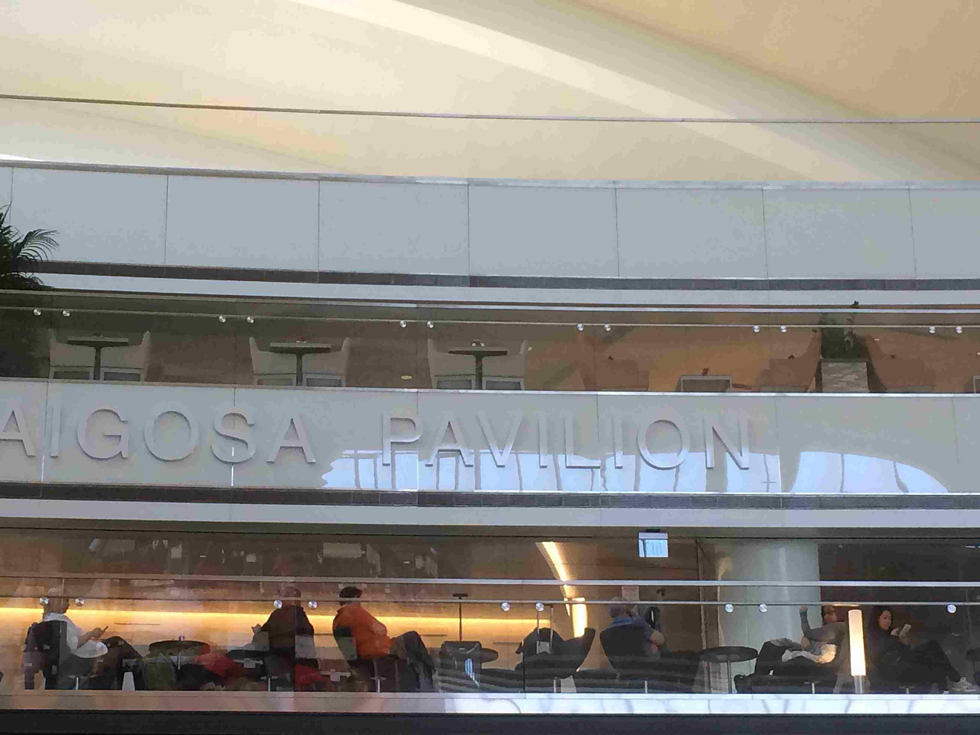 The Villaraigosa Pavilion in the Tom Bradley International Terminal in Los Angeles International Airport.