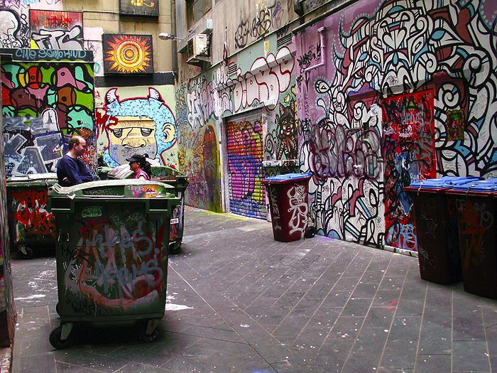 Melbourne Street Art Graffiti - Melbourne Alley and Art Graffitti