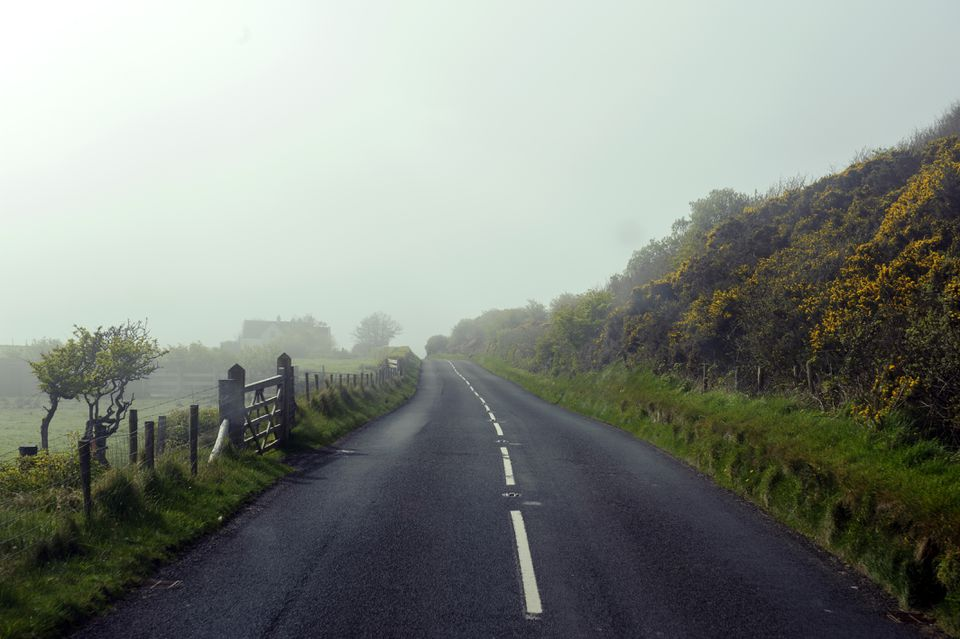 Road landscape near Ballycastle, Northern Ireland