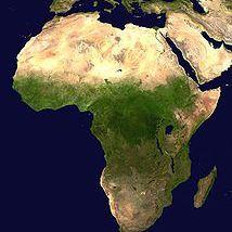 Imagen de satélite de África