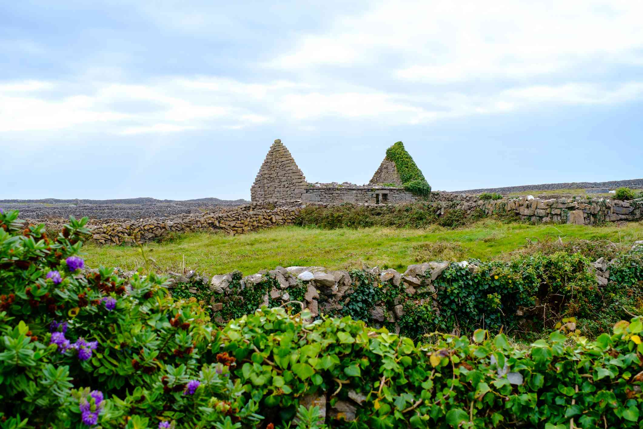 ruins of a house on the Aran Islands