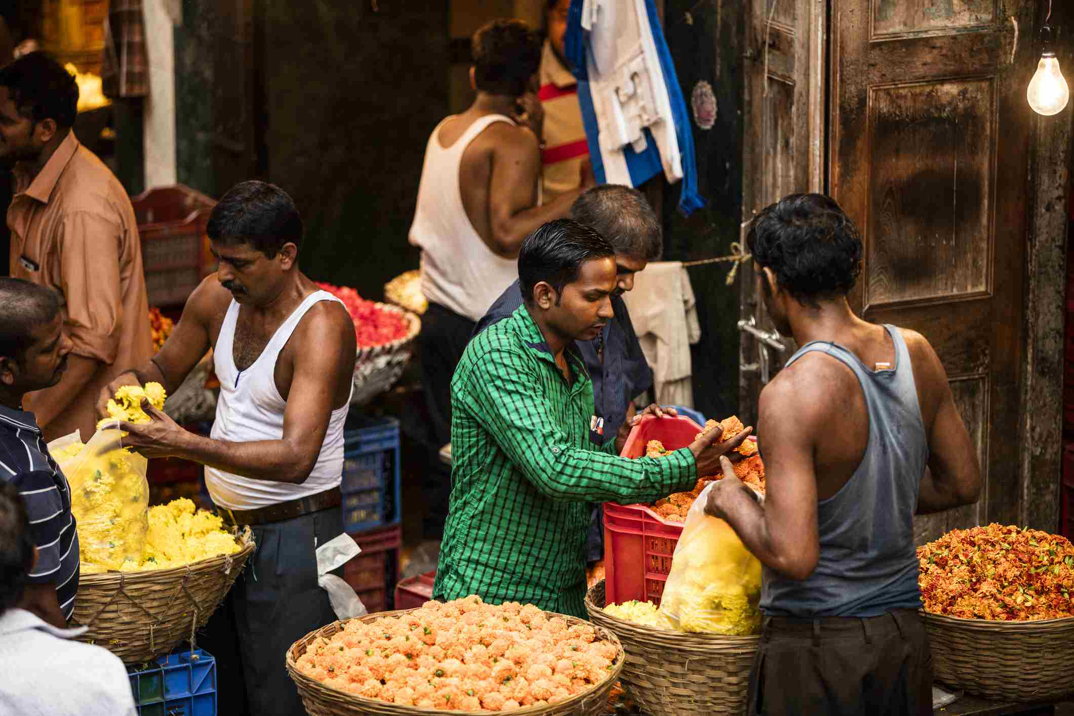 Mumbai flower market.