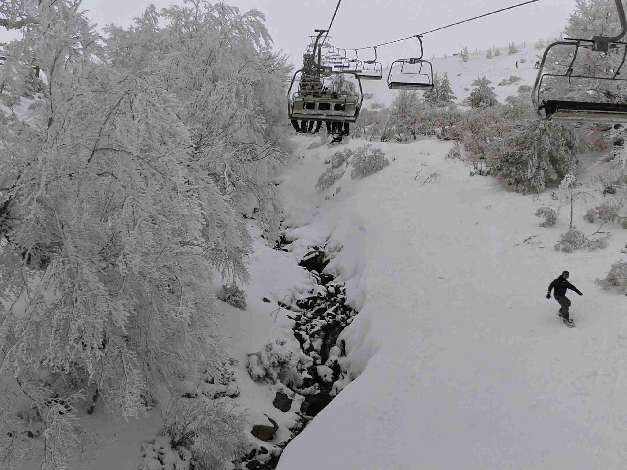 Skiing in La Rioja, Spain